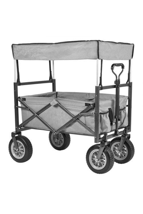 Zložljiv voziček za na plažo Beach Wagon Deluxe (106 x 68 x 115 cm, s streho, nosilnost: 60 kg)