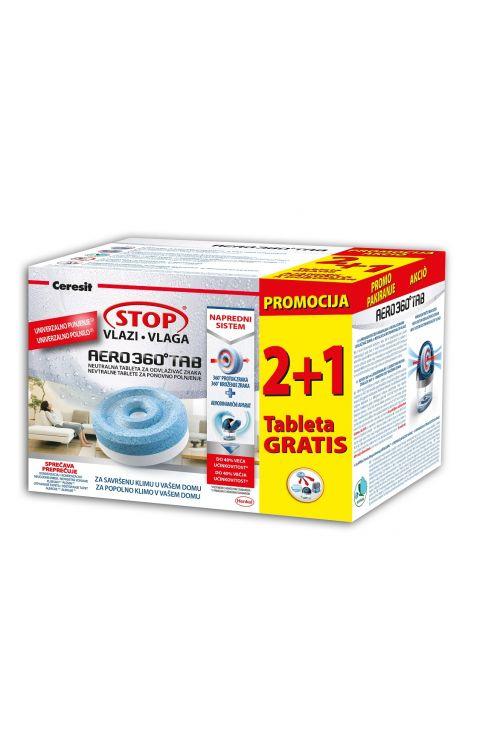 Tablete za odstranjevalec vlage Henkel Cresit STOP vlagi, AERO 360  (2 x 450 g + 1 tableta gratis)