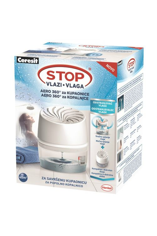 Odstranjevalec vlage Ceresit STOP vlagi AERO 360° za kopalnice (barva: bela, gratis tableta)