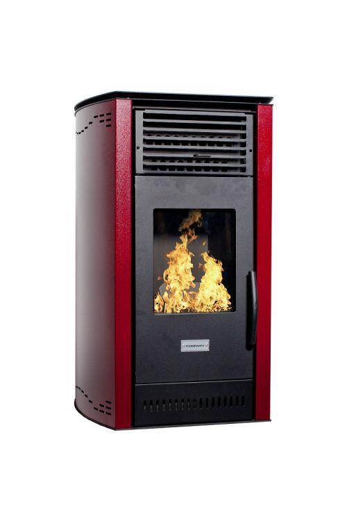 Kaminska peč na pelete Coolwex CPK-A 08 (8 kW, velikost ogrevanega prostora: 200 m3 , rdeča)
