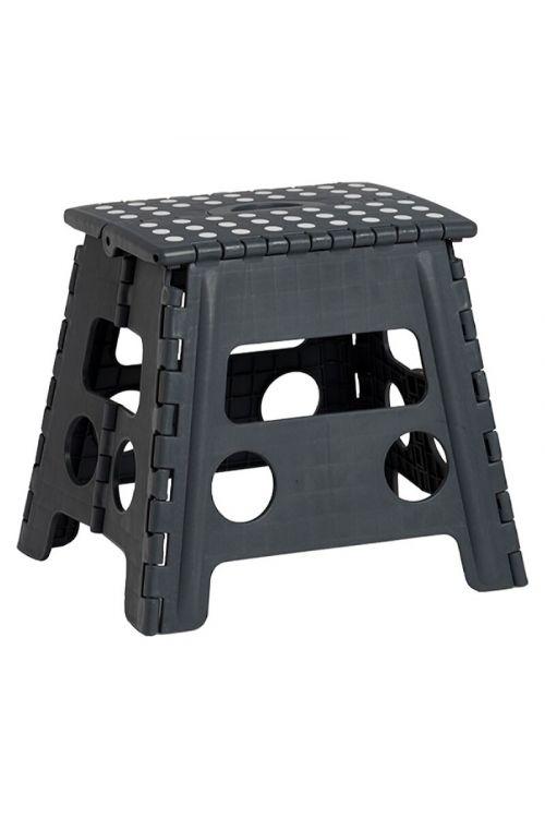 Zložljiva pručka Zeller Present (37 x 30 x 32 cm, nosilnost: 150 kg, črne barve)