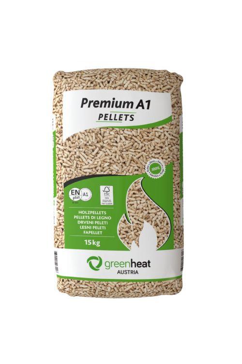 Peleti Greenheat Premium (100 % smrekov les, 15 kg)
