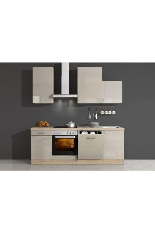 Kuhinjski komplet Palma (220 cm, napa, pečica, kuhalna plošča, pomivalni stroj)