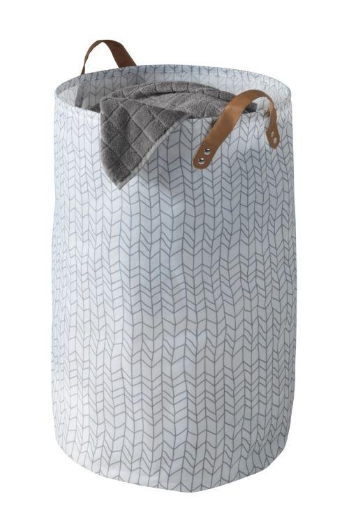 Koš za perilo Wenko Geo (Ø 40 x 60 cm, bel)