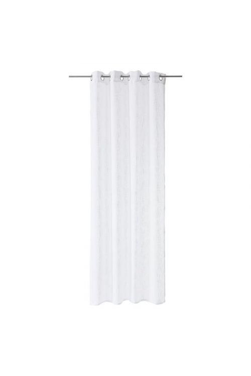 Zavesa Mia (135 x 245 cm, bela z vzorcem)