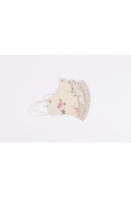 Pralna maska z elastiko Viki (3 kosi, ženska, tekstilni izdelek)