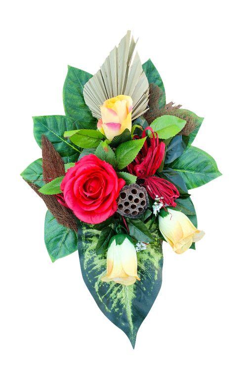 Cvetlični aranžma (mali, umetne rože in drugo rastlinje)