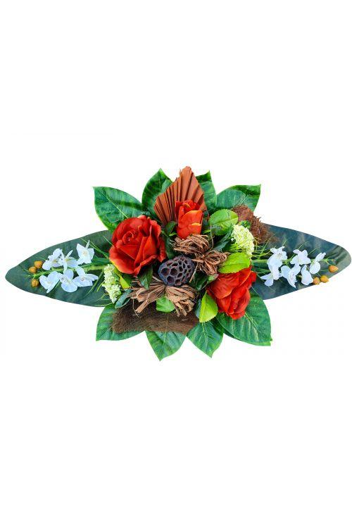 Cvetlični aranžma (srednji, umetne rože in drugo rastlinje)