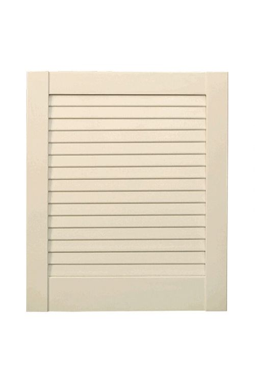 Vrata z lamelami  (198 x 39,4 cm,  vrsta lamel: zaprta, bela)