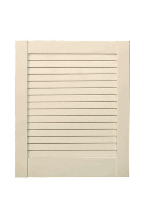Vrata z lamelami (198 x 59,4 cm, vrsta lamel: zaprta, bela)