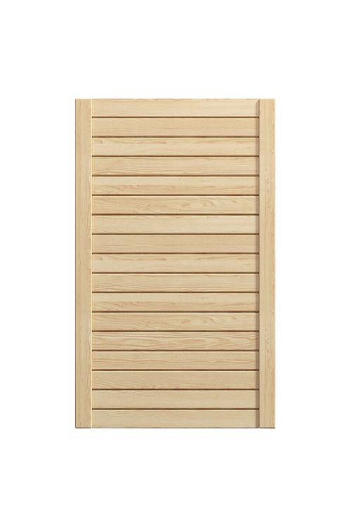Lamelna vrata za pohištvo (394 x 766 mm, barva: naravna)