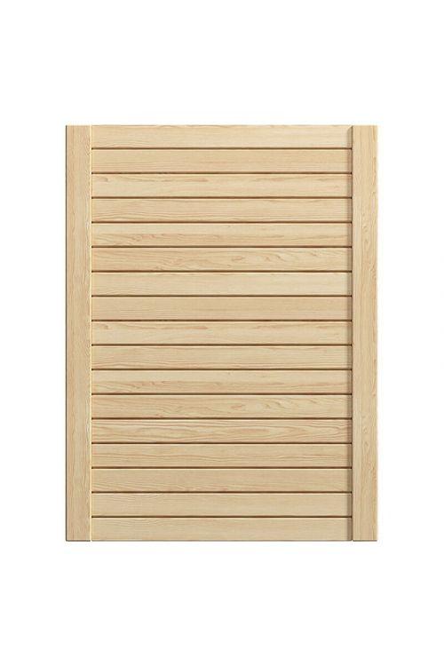 Lamelna vrata za pohištvo (594 x 766 mm, barva: naravna)