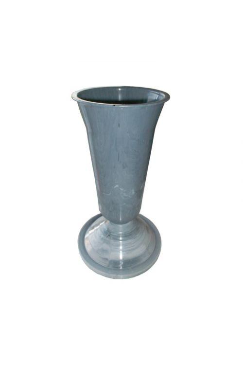 Siva vaza (25 cm, imitacija marmorja)