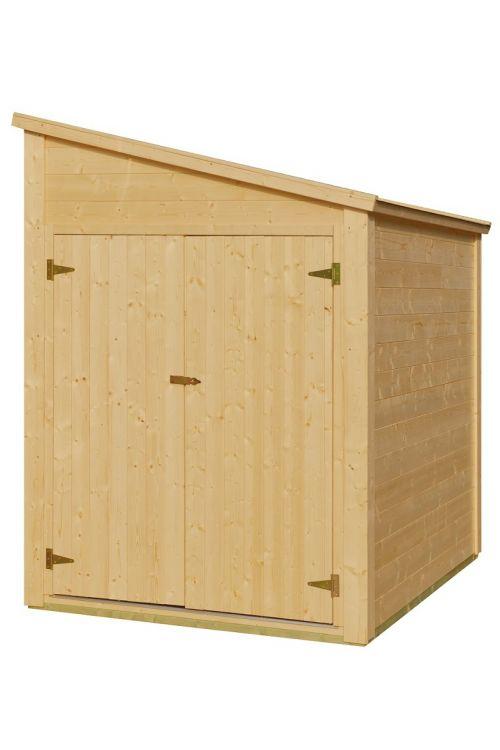 Kolesarnica (150 x 210 x 170 cm, lesena)