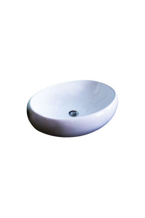 Nasadni umivalnik Art (59 x 40 x 15 cm, keramični, bel)