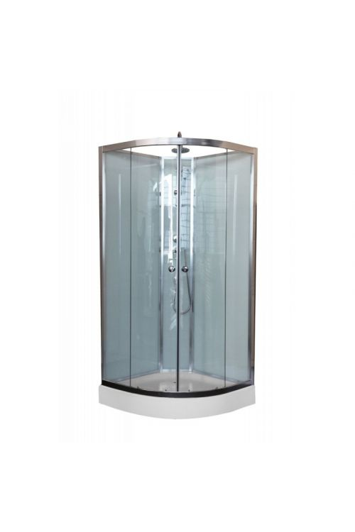 Kompletna tuš kabina Fiona (90x90x220 cm, steklo: 5 mm)