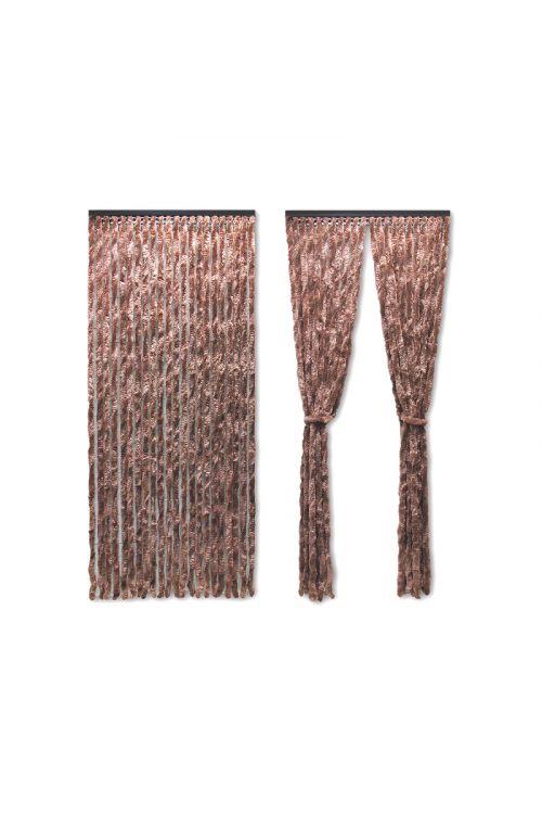Zavesa za vrata (100 x 200 cm, rjava)