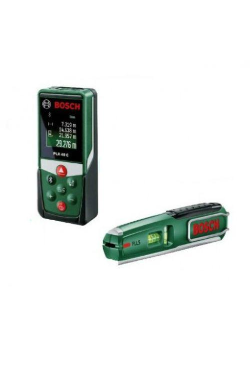 Komplet laserski merilnik razdalj BOSH PLR 40C + laserska vodna tehtnica PLL5