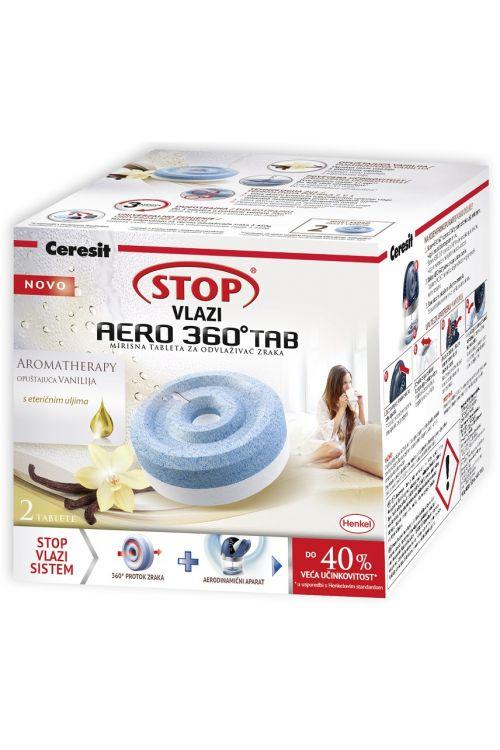 Tablete za razvlažilec zraka Cresit STOP AERO 360 TAB (2 x 450 g tableti z vonjem vanilije)