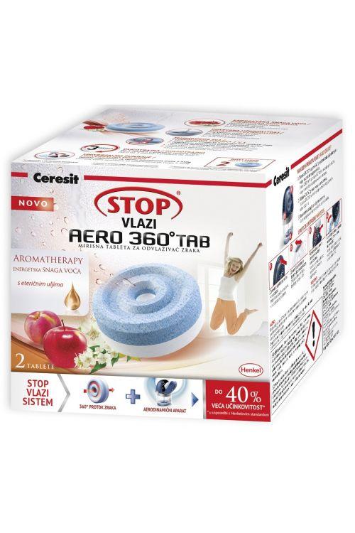 Tablete za razvlažilec zraka Cresit STOP AERO 360 TAB (2 x 450 g tableti z vonjem sadja in eteričnega olja)