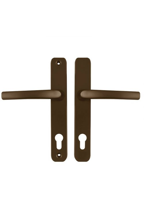 Set kljuk za vrata Solana (za PVC vrata, obe strani, rjava)