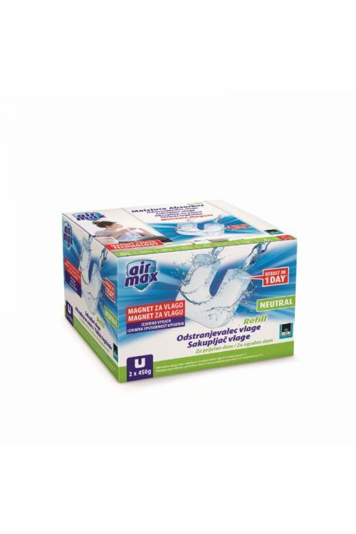 Tableta za odstranjevalec vlage BISON AIR MAX (oblika magneta, 2 x 450 g, nevtralen vonj)