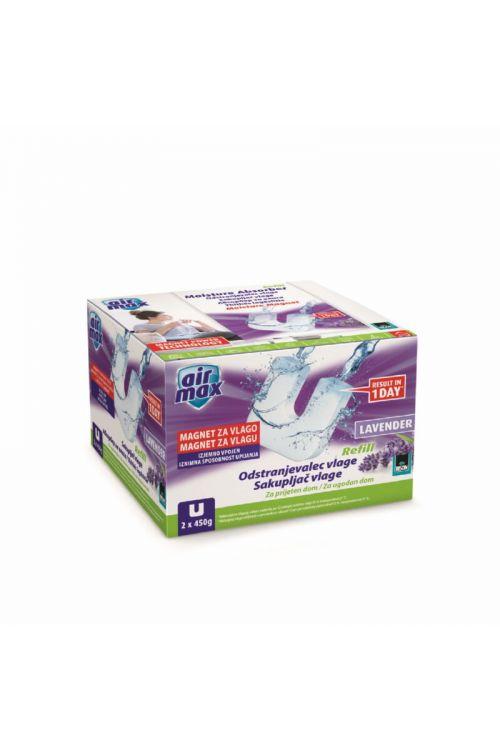 Tableta za odstranjevalec vlage BISON AIR MAX (oblika magneta, 2 x 450 g, vonj sivke)