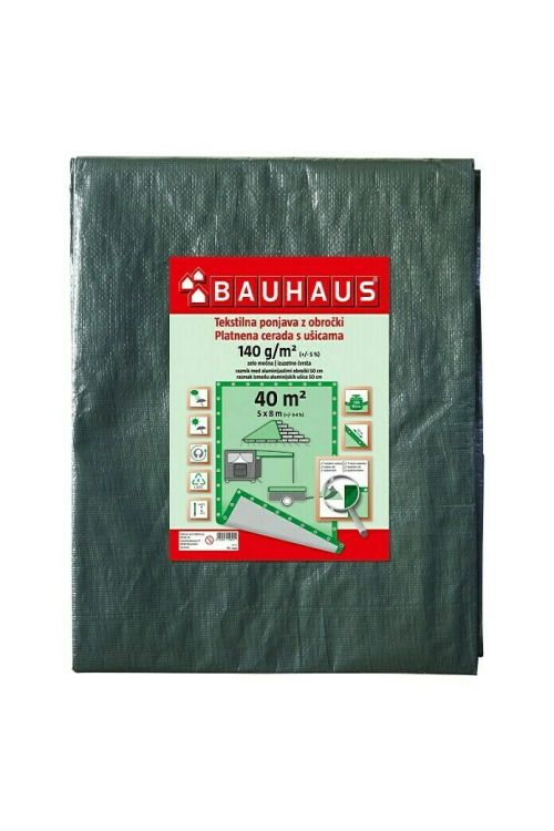 Pokrivna ponjava 140 g/m2 (5 x 8 m, olivno zelena)