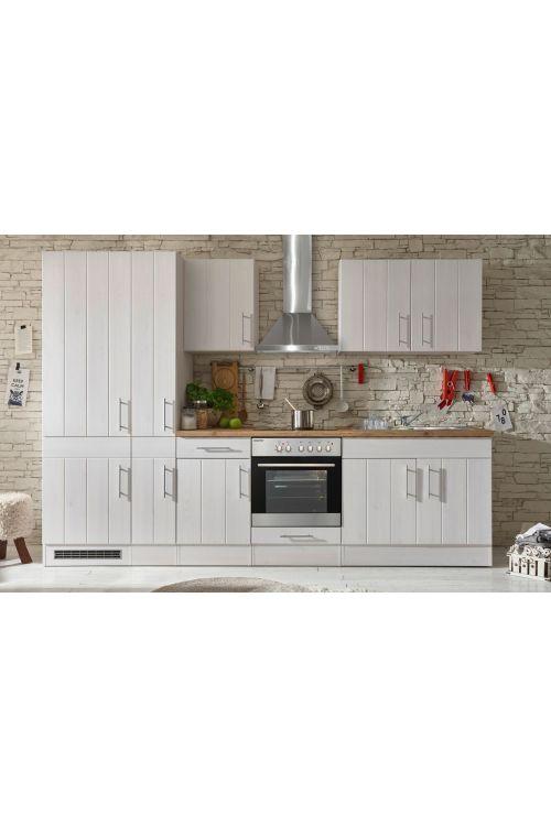 Kuhinjski komplet Respekta Premium BERP (300 cm, z el. napravami, imitacija macesna, bele barve)