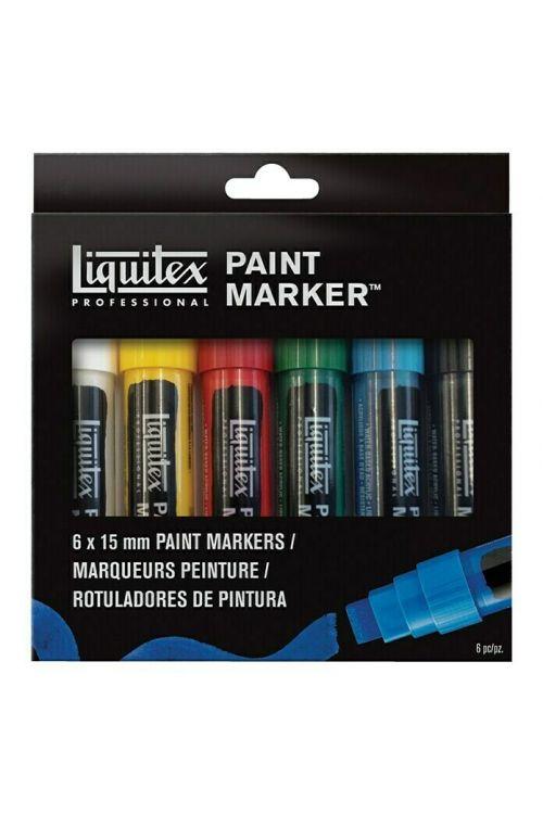 Set akrilnih markerjev Liquitex (6 kosov, debelina konice: 15 mm)