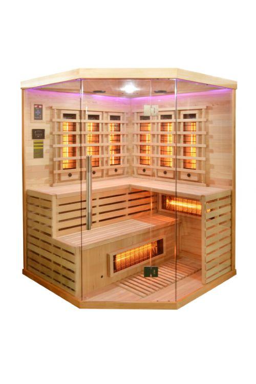 Kotna infrardeča savna Deluxe (2580 W, 11 seval, 150 x 150 x 200 cm)