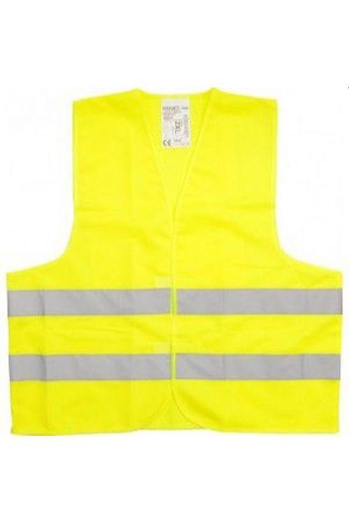 Varnostni telovnik (poliester, rumene barve, za odrasle)