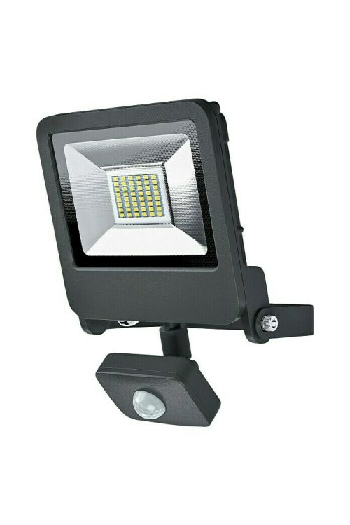 LED reflektor Ledvance Endura Flood s senzorjem (30 W, 2.400 lm, 3.000 K, IP44, domet 2–9 m, antracit)