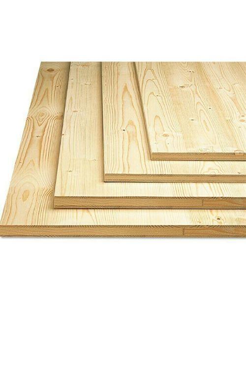 Lesena plošča (3-slojna, 800 x 400 x 19 mm, smreka)