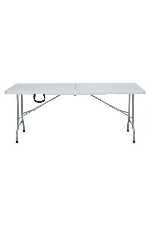 Zložljiva miza Sunfun (180 x 75 x 74 cm, kovina in plastika, bela)