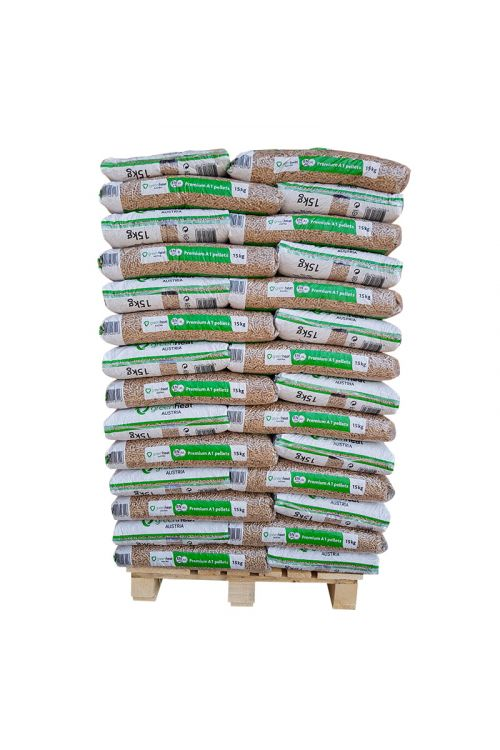 Peleti Greenheat Premium (cela paleta z dostavo, 100 % smrekov les, 70 x 15 kg)