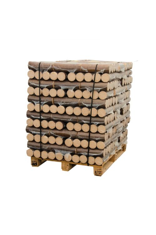 Lesni briketi PREMIUM Bauhaus v PVC foliji (cela paleta z dostavo, 100 % bukev, 96 x 10 kg)