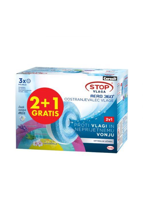Tablete za odstranjevalec vlage Ceresit STOP AERO 360 TAB (3 x 450 g, z oživljajočimi vonji in eteričnimi olji)