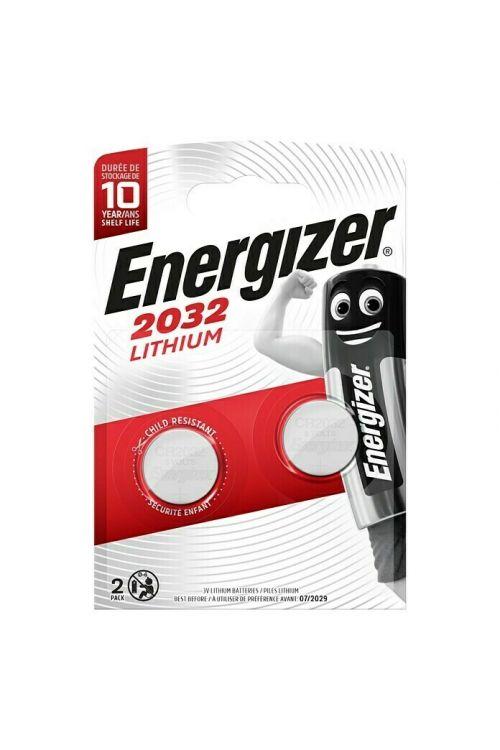 Gumbna baterija Energizer (3 V, CR2032, 2 kosa)