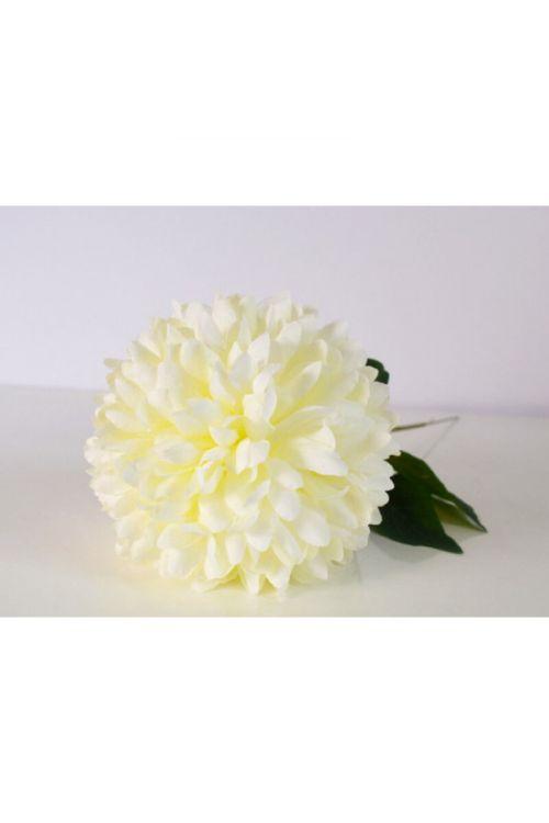 Umetna krizantema (45 cm, umetna masa, bela)