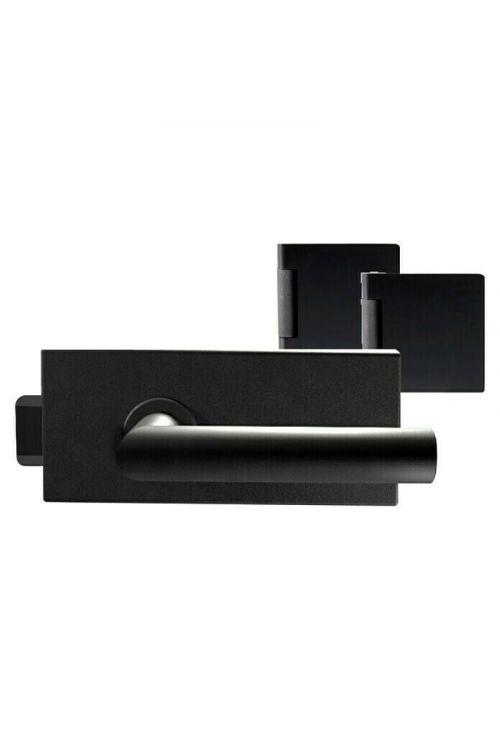 Okovje za streklena vrata Diamond Doors Black Edition (aluminij, črna)