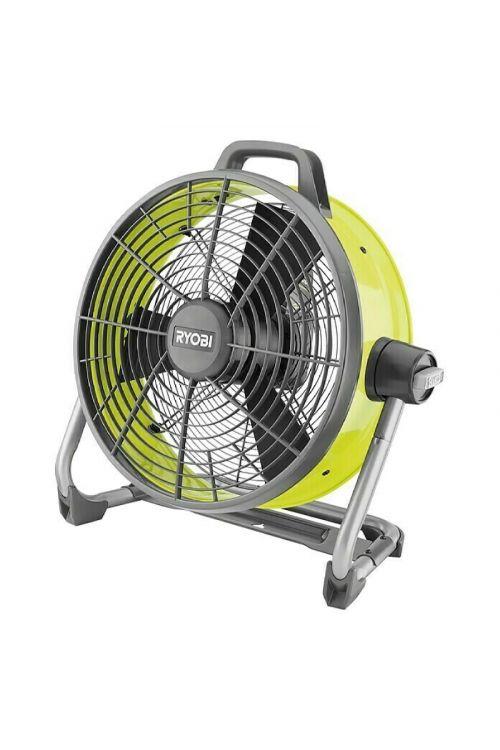 Talni ventilator Ryobi ONE+ R18F5-0 (18 V, Ø 45 cm, brezžični, siva in zelena)