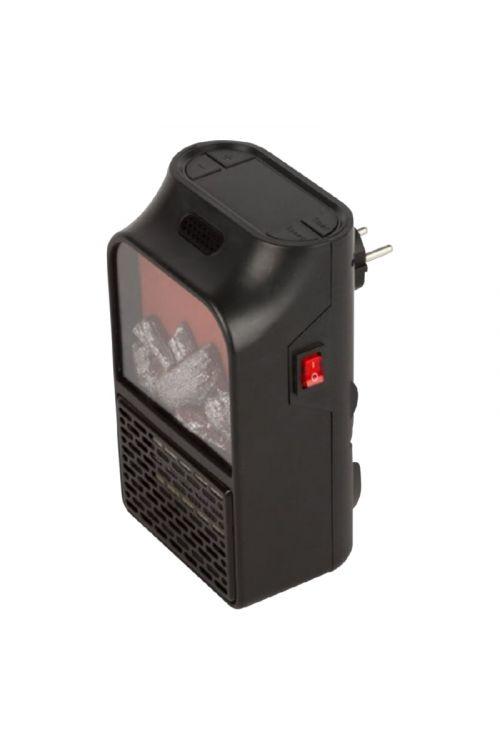Mini električni kamin z daljincem (500 w, črna barva)