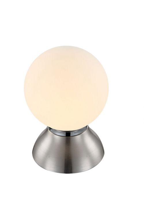 LED namizna svetilka Globo (4 W, E14, topla bela svetloba, mat nikljeva barva)