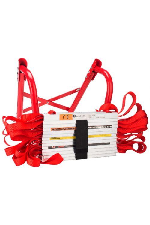 Lestev za reševanje (10 m, rdeče barve)