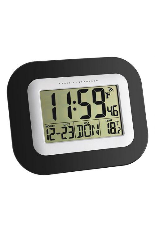 Radijska ura (črna/srebrna, 22,5 x 18 cm)