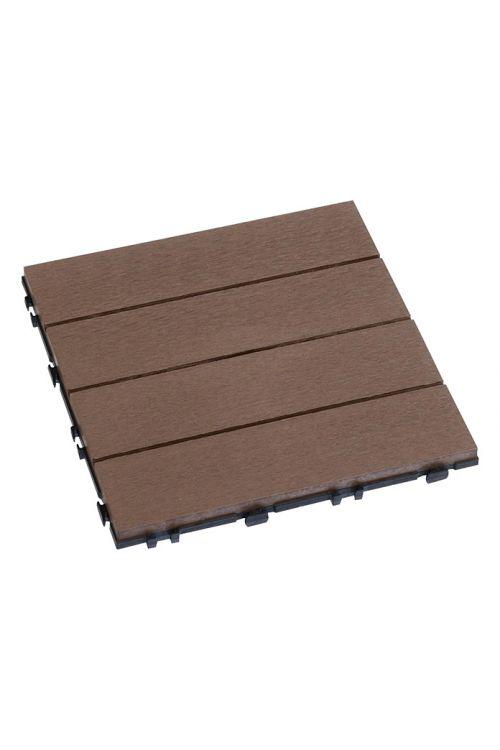 Klik plošča WPC (kostanjeve barve, 30 × 30 cm, 10 kosov)