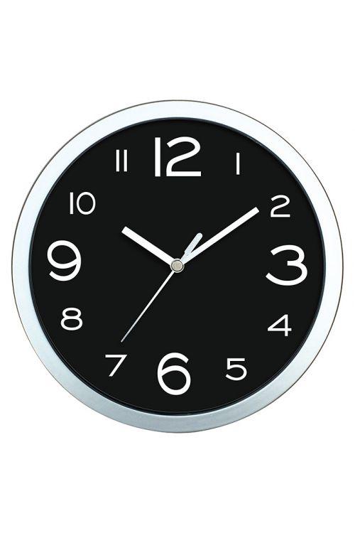 Stenska ura Basic (črna, premer: 20 cm)