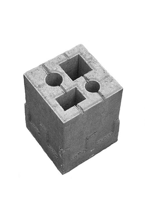 Temeljni kamen za ograjo 4v1 (siva, beton, 19 x 19 x 25 cm)