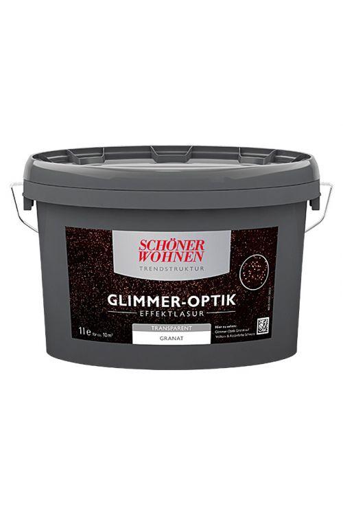 Lazura z učinkom Schöner Wohnen Glimmer-Optik Effektlasur Trendstruktur (granatna, prosojna, 1 l)